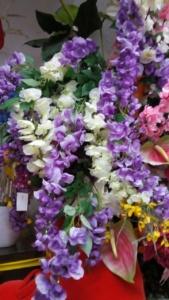 fiori finti in seta e lattice